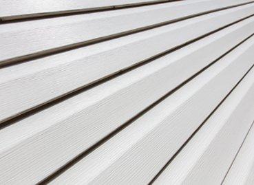 A closeup of white siding in Peoria IL