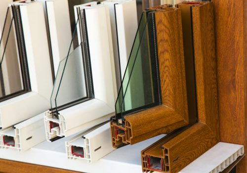 Samples of window frames suited for handling cold temperatures